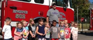 briggs students at fire station