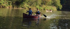 2 children in kayak