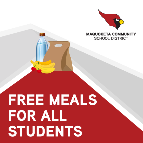 Free meals graphic