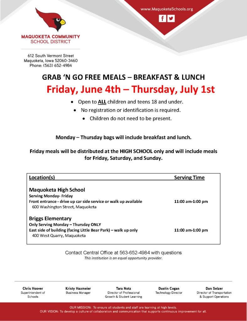 Summer Food Service flyer